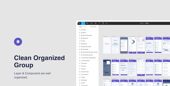 Tonik - Task Management Figma App Template