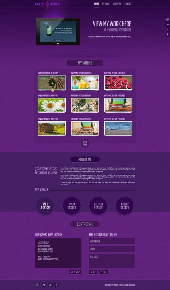 Creative Designer Portfolio - Portfolio Creative