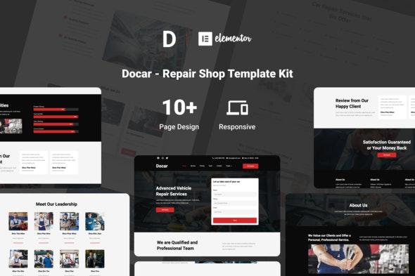 Docar - Repair Shop Elementor Template Kit - Automotive & Transportation Elementor