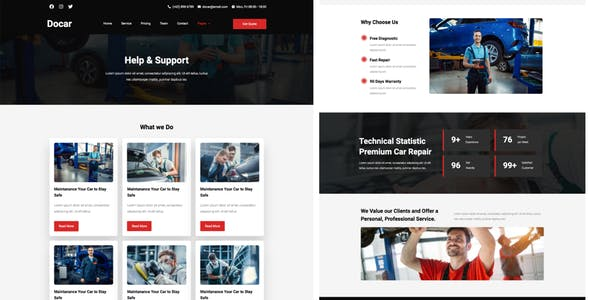 Docar - Repair Shop Elementor Template Kit