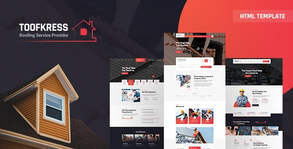 RoofPress - Roofing Services HTML5 Template - Business Corporate