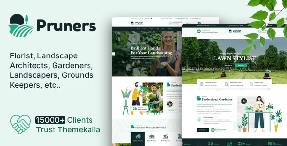 Pruners - Garden Landscaper HTML Template - Business Corporate