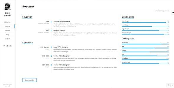 Kerge - One Page Portfolio Template