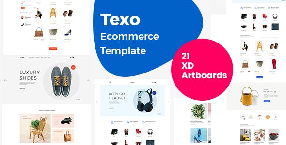 Texo - Multipurpose ecommerce adobe xd template