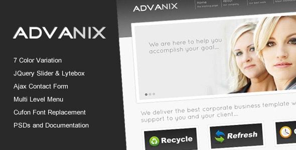 Advanix - Corporate Business HTML Template - Business Corporate