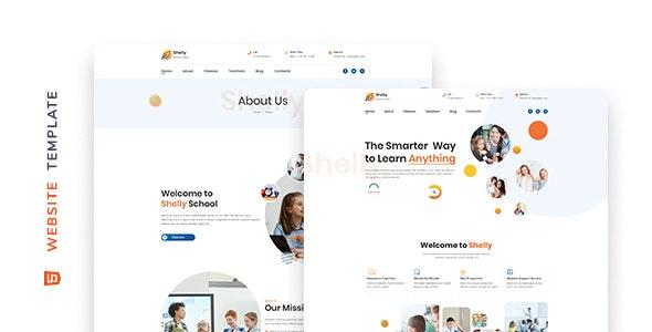 Shelly – School Website Template - Children Retail