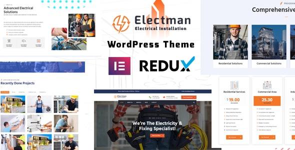 electman- Electricity Services WordPress Theme - Business Corporate