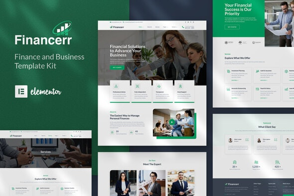 Financerr - Business & Finance Template Kit - Finance & Law Elementor