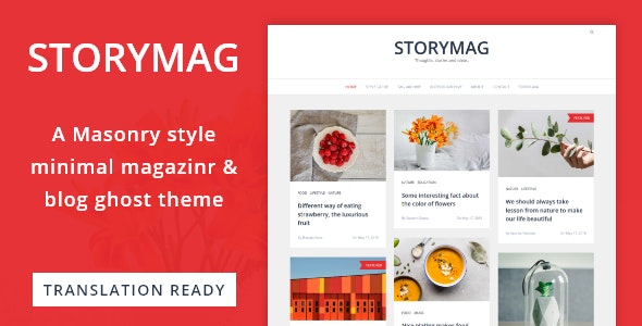 Storymag - Minimal Masonry Style Magazine and Blog Ghost Theme - Ghost Themes Blogging