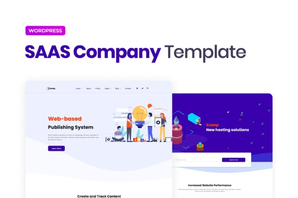 Xsapp – SAAS Company Elementor Template Kit - Technology & Apps Elementor