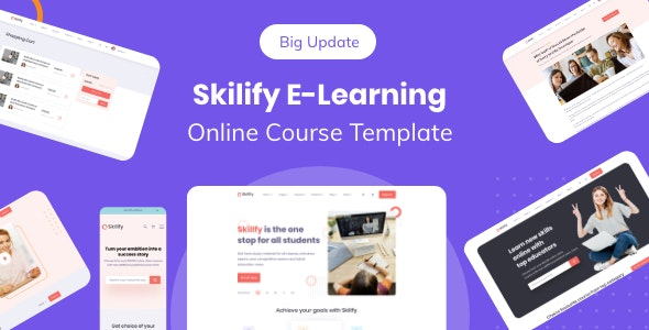 Skilify For Education & Learning Management System - Nonprofit Adobe XD