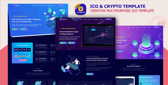 Nazoly - ICO and Cryptocurrency Template - Technology Site Templates
