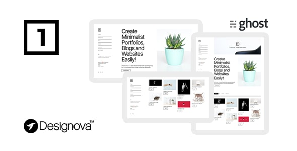One - Simple & Minimal Ghost Theme for Portfolios / Websites / Blogs - Ghost Themes Blogging