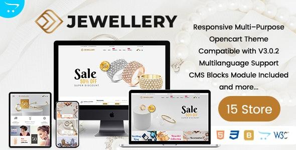 Jewelz Premium OpenCart Theme - OpenCart eCommerce