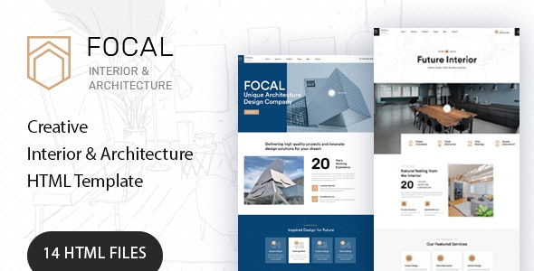 Focal - Architecture HTML Template - Site Templates