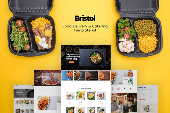 Bristol – Food Delivery & Catering Elementor Template Kit - Food & Drink Elementor