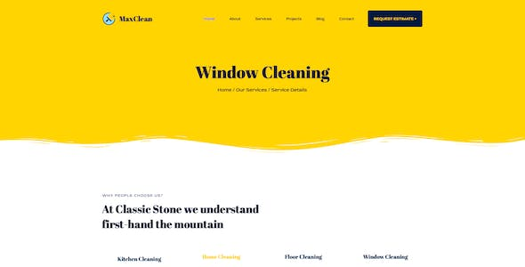 MaxClean - Cleaning PSD Template