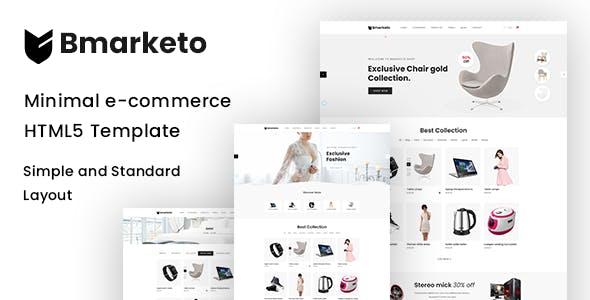 Bmarketo - Minimal E-commerce Html Template