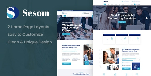 Sesom - Consulting PSD Template - Business Corporate