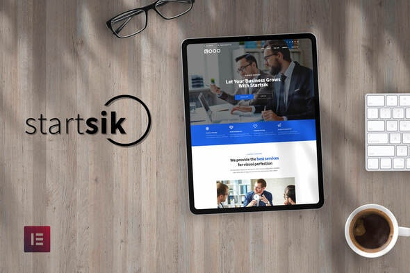 Startsik - Startup Business Elementor Template Kit - Business & Services Elementor