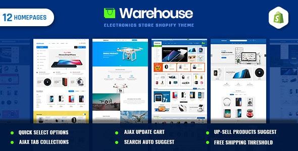 Warehouse | Electronics & Multi-Purpose Shopify Theme - Technology Shopify