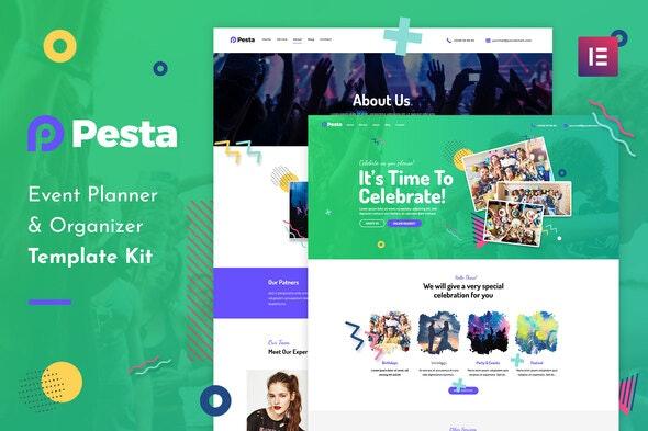 Pesta Kit - Event Planner & Organizer Elementor Template Kit - Events & Entertainment Elementor