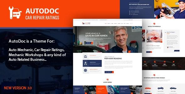 Autodoc - Auto Services & Car Repair Feedback System - Business Corporate