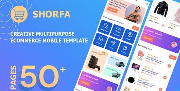 Shorfa - Multipurpose Ecommerce Mobile Template - Mobile Site Templates