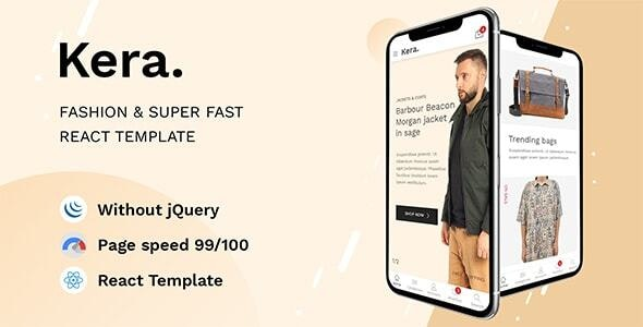 Kera - Premium eCommerce React Template - Shopping Retail