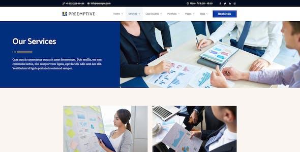 Preemptive - Business & Finance Elementor Template Kit
