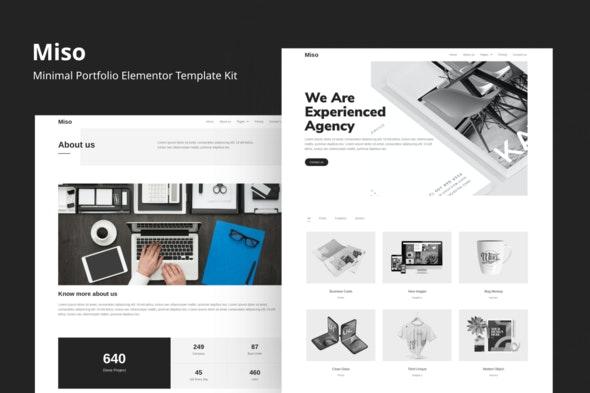 Miso - Minimal Portfolio Elementor Template Kit - Creative & Design Elementor