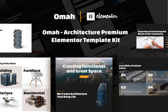 Omah - Architecture Template Kit - Real Estate & Construction Elementor