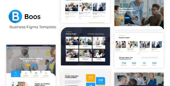 Boos - Business Figma Template - Business Corporate