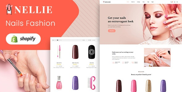 Nellie - Nail, Hair & Beauty Responsive Shopify Theme - Health & Beauty Shopify