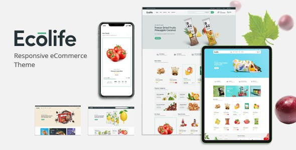 Ecolife - Organic, Food, Cosmetic & Multipurpose Magento 2 Theme