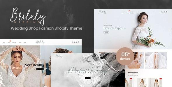 Brilaly - Wedding Shop Fashion Responsive Shopify Theme - Shopify eCommerce