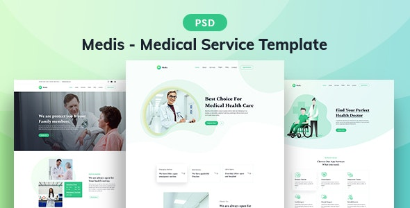 Medis - Medical Service PSD Template - Health & Beauty Retail