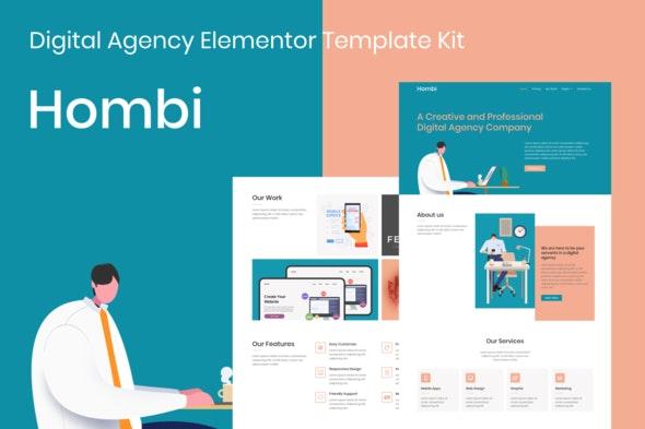 Hombi - Digital Agency Elementor Template Kit - Business & Services Elementor