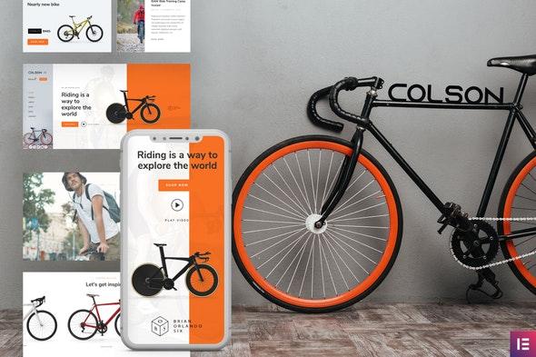Colson – Bike WooCommerce Elementor Template Kit - Shopping & eCommerce Elementor