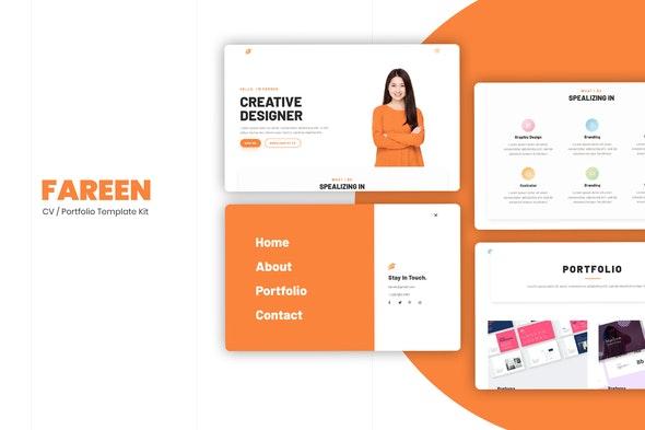 Farren - CV/Resume Elementor Template Kit - Creative & Design Elementor