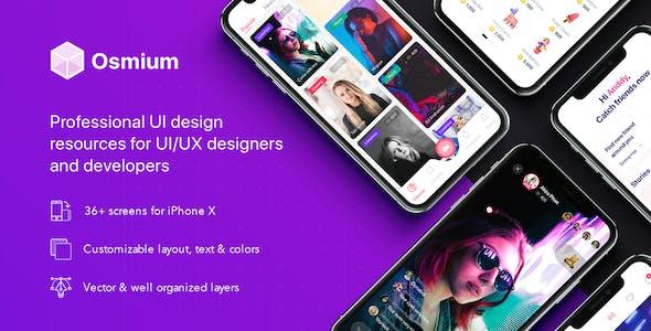 Osmium UI Kit for Adobe XD