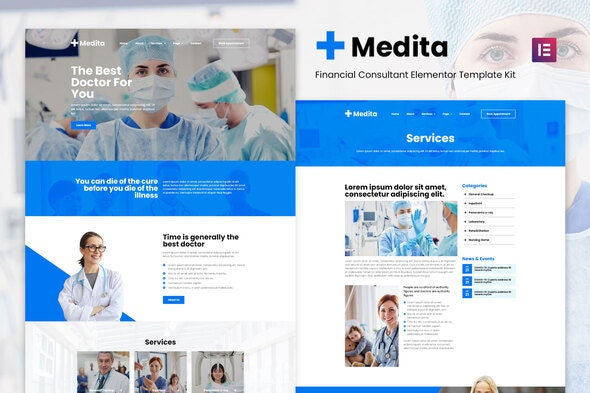 Medita - Medical Service Elementor Template Kit - Health & Medical Elementor
