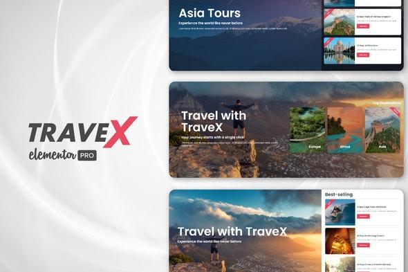 TraveX - Travel & Tour Agency Template Kit - Travel & Accomodation Elementor