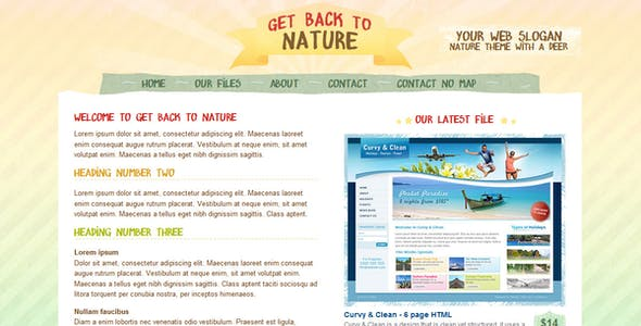 Get Back To Nature - HTML