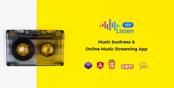 Listen App - Angular 8 Music Streaming App - Music and Bands Entertainment