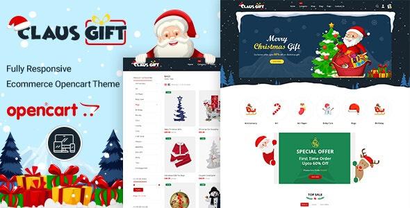 ClausGift -  Opencart 3 Multi-Purpose Responsive Theme - Shopping OpenCart