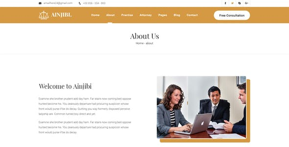 Ainjibi – Attorney and Lawyer Sketch Template