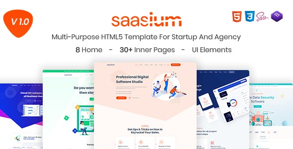 Saasium - Multi-Purpose HTML5 Template For Startup And Agency