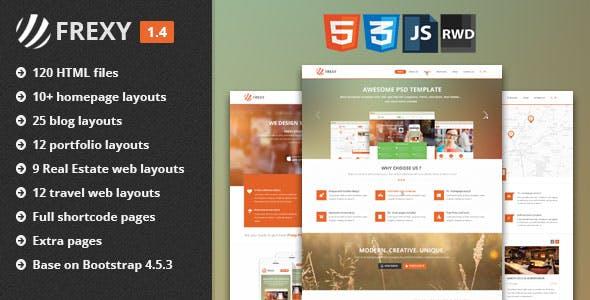 Frexy - Responsive Multi-Purpose HTML5 Template