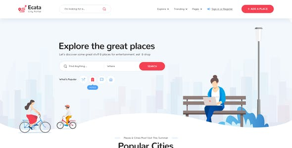 Ecata -  City Guide PSD